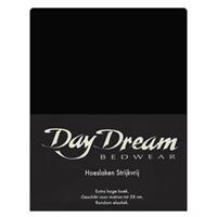 DAY Dream Hoeslaken Katoen Zwart-90 x 200 cm