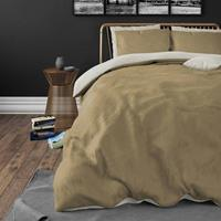 Zensation Dekbedovertrek Twin Face Cream Taupe-140x200/220