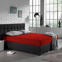 Home Care Hoeslaken Jersey 135 gr. Red Rood 140 x 200