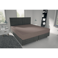 nightlife Single Jersey - Hoeslaken Bruin 80/90 x 200 + 30 cm