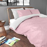Zensation Dekbedovertrek Twin Face Pink White-140x200/220