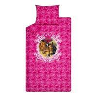 dekbedovertrek Lovely Horses - roze - 140x200/220 cm