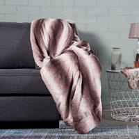 Nightlife Ambianzz Plaid Faux Fur Taupe