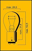 Lamp 12V-21/5W Bay15D E-Keur achterlicht