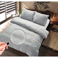 Homecollection Dekbedovertrek Guardea Silver Grey-140x200/220