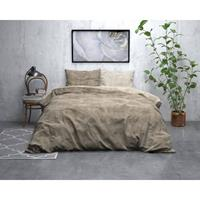 Sleeptime Flanel Twin Washed Cotton Dekbedovertrek Taupe-140x200/220