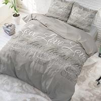 Sleeptime Love and Relax Taupe Taupe 140 x 220