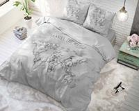 Sleeptimepurecotton Dekbedovertrek Wereldkaart Grijs