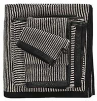 Marc O'Polo Timeless Tone Stripe Night & Oatmeal-6 x Gastendoekjes (30 x 50 cm)