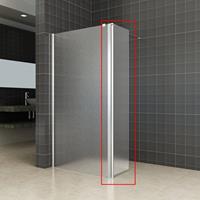 Aqua Splash Zijwand Voor Inloopdouche Met Link Of Rechts Scharnierend Profiel 35X200 cm 10 mm Nano Mat Glas - Rechts Scharnierend