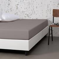 Dekbed-Discounter Jersey Stretch Hoeslaken - Taupe 100/120 x 200
