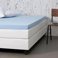 Dekbed-Discounter Jersey Stretch Topper Hoeslaken Kleur: Blauw, 80/90 x 200