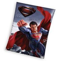DC Comics fleece-deken Superman donkerblauw 110 x 140 cm