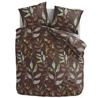 Dekbedovertrek Foliage Brown-140x200/220