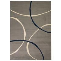 vidaXL Vloerkleed modern cirkel ontwerp 80x150 cm grijs