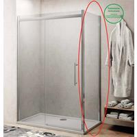Lacus Zijwand voor Douchecabine  Procida 75x210 cm 8 mm Nano Glas