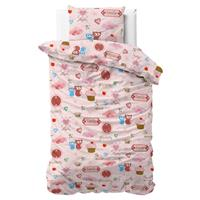 Flanel Small Love Pink Roze 140 x 200