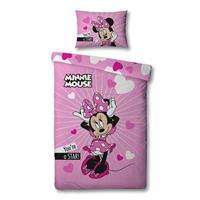 Disney Minnie Mouse Proud - Dekbedovertrek - Eenpersoons - 140 x 200 cm - Roze