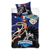 DC Comics dekbedovertrek DC superheroes 140 x 200 cm