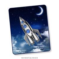 Good Morning plaid Rocket - blauw - 130x160 cm