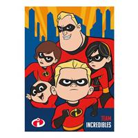 Disney fleece-deken Team Incredibles 140 x 110 cm rood/blauw
