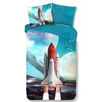 Spaceshuttle dekbedovertrek - 1-persoons (140x200/220 cm
