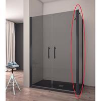 Lacus Zijwand voor Douchecabine  Giglio Black 70x190 cm Mat Zwart Profiel
