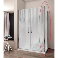 Lacus Zijwand voor Douchecabine  Giglio Fox 80x190 cm 6 mm Nano Glas