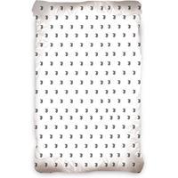 Juventus hoeslaken 90 x 200 cm wit