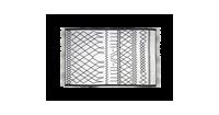HSM Collection Vloerkleed - katoen - 90x60 cm - zwart/wit