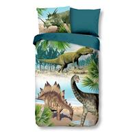 Goodmorning kinderdekbedovertrek Dino - multikleur - 140x200/220 cm