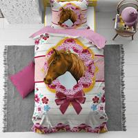 dreamhousebedding Cute Horse dekbedovertrek - 1-persoons