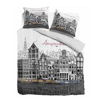 dreamhousebedding Old Amsterdam Grey Grijs 140 x 220