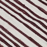 vidaXL Vloerkleed chindi handgeweven 80x160 cm katoen bordeauxrood wit