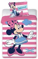 disneymickeyenminniemouse Minnie Mouse Dekbedovertrek Stripes 100x135cm