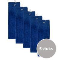 The One Towelling The One Golfhanddoek 450 gram Donker blauw (5 stuks)