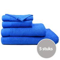 The One Towelling The One Handdoek Voordeelpakket 450 gram 50x100 cm Royal Blue (5 stuks)