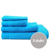 The One Towelling The One Handdoek Voordeelpakket 450 gram 50x100 cm Turquoise (5 stuks)