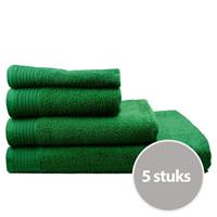 The One Towelling The One Handdoek Voordeelpakket 450 gram 50x100 cm Groen (5 stuks)