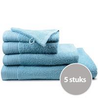 The One Towelling The One Handdoek Deluxe Voordeelpakket 50x100 550 gr Petrol (5 stuks)
