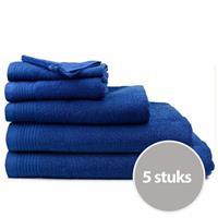 The One Towelling The One Handdoek Deluxe Voordeelpakket 50x100 550 gr Donker Navy (5 stuks)