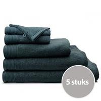 The One Towelling The One Handdoek Deluxe Voordeelpakket 50x100 550 gr Antraciet (5 stuks)