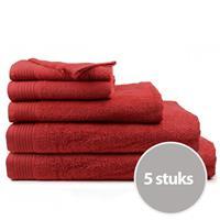 The One Towelling The One Handdoek Deluxe Voordeelpakket 50x100 550 gr Burgundy (5 stuks)