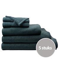The One Towelling The One Badhanddoek Deluxe Voordeelpakket 70x140 550 gr Antraciet (5 stuks)