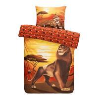 Comfort dekbedovertrek Disney Lion King - lichtbruin - 140x200 cm