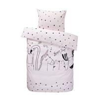 Comfort dekbedovertrek Keet - roze - 140x200 cm