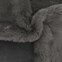 vidaXL Tapijt 65x95 cm kunstkonijnenbont donkergrijs