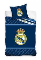 Real Madrid dekbedovertrek 140 x 200 cm blauw 60 x 80 cm