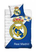 Real Madrid dekbedovertrek 140 x 200 cm wit/blauw 60 x 80 cm
