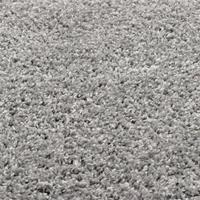 vidaXL Vloerkleed shaggy hoogpolig 67 cm grijs